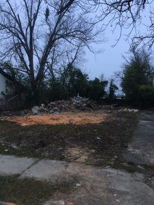 Hicks St. Demo Debris